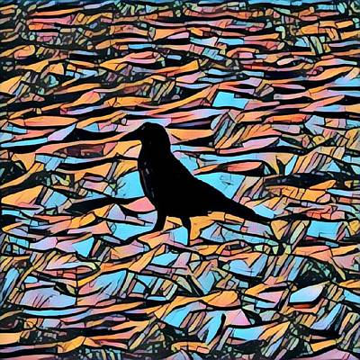 Candy Crow  Art Print by John Pierpont