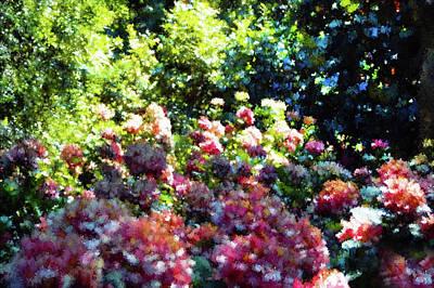 Lush Mixed Media - Candy Garden  by Georgiana Romanovna