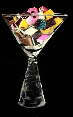 Licorice Allsorts Painting - Candy In Glass  by Jay Johnston