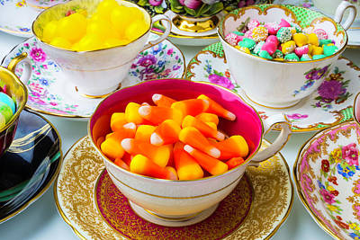 Candy In Tea Cups Art Print