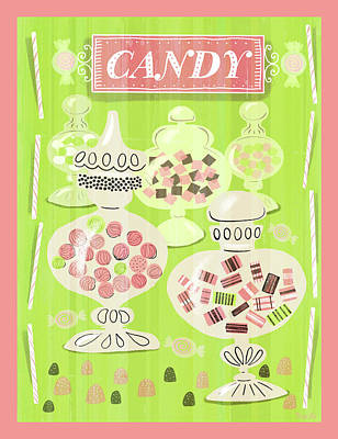Candy Painting - Candy Is Dandy by Little Bunny Sunshine