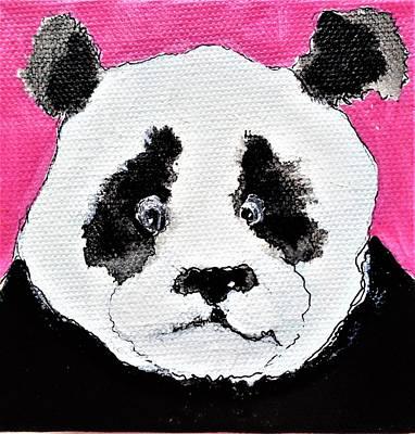 Wall Art - Painting - Candy Panda by Larissa Pirogovski