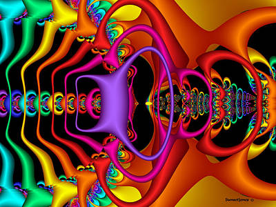 Multicolor Abstract Digital Art - Candy by Robert Orinski