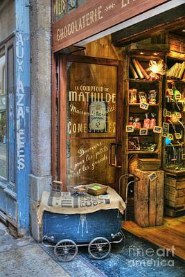 Lyon France Photograph - Candy Shop In Old Town Lyon by Mel Steinhauer