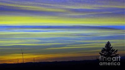 Art Print featuring the photograph Candy Sky 1 by Victor K
