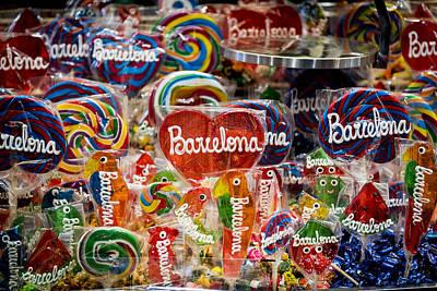 Candy Stand - La Bouqueria - Barcelona Spain Art Print by Jon Berghoff