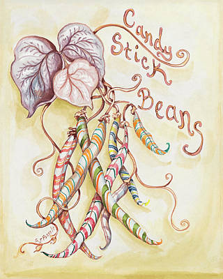 Painting - Candy Stick Beans by Sheri Jo Posselt