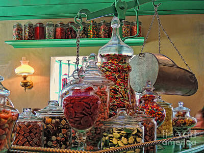 Gummy Digital Art - Candy Store by Jeff Breiman