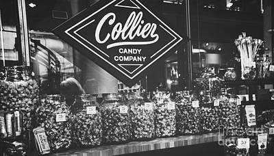 Photograph - Candy Store- Ponce City Market - Black And White by Adrian DeLeon