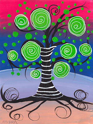 Candy Tree Print by  Abril Andrade Griffith