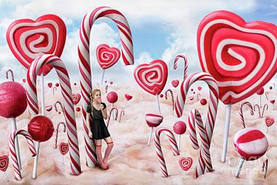 Digital Art - Candyland by Bettina Dittmann