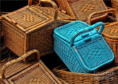 Gold Pattern - Cane Baskets by Charuhas Images