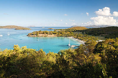 Caneel Bay Panorama Art Print by George Oze