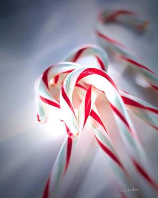 Christmas Digital Art - Canes by Kenneth Lambert