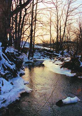 Photograph - Caney Creek In Snow by Jan Amiss Photography