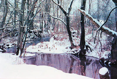 Photograph - Caney Creek Snow by Jan Amiss Photography