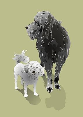 Digital Art - Canine Friendship by MM Anderson