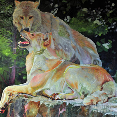Painting - Canine Love2 by Kelly McNeil