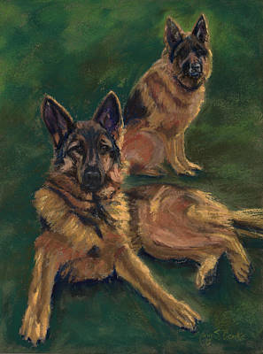 Painting - Canine Repose by Mary Benke