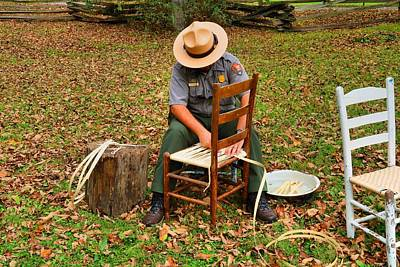 Photograph - Caning The Chair by Kathryn Meyer