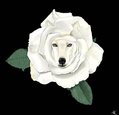 Digital Art - Canis Rosa by Norman Klein