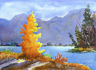 Mohamed Painting - Canmore, Alberta by Mohamed Hirji
