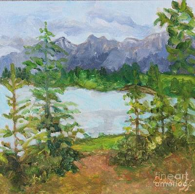 Painting - Canmore National Park by Jan Bennicoff