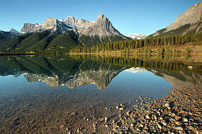 Photograph - Canmore Reflections by Celine Pollard