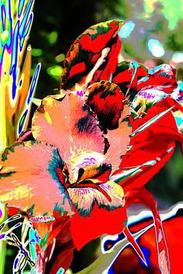 Canna Abstract 7 Art Print by M Diane Bonaparte