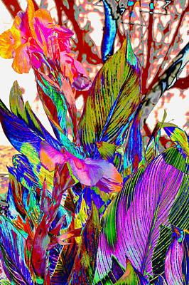 Canna Abstract Art Print by M Diane Bonaparte