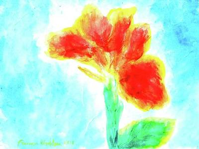 Painting - Canna Flowers by Wanvisa Klawklean