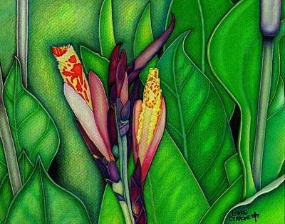 Canna Mixed Media - Canna Lilies by Lorrie Cerrone