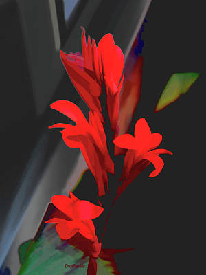 Canna Digital Art - Canna Plant by Ericamaxine Price
