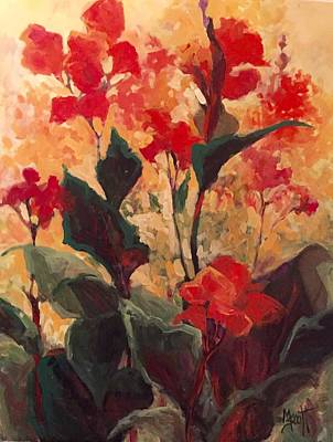 Canna Rising Original by Mary Scott