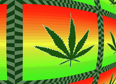 Free Mixed Media - Cannabis  by Dan Sproul