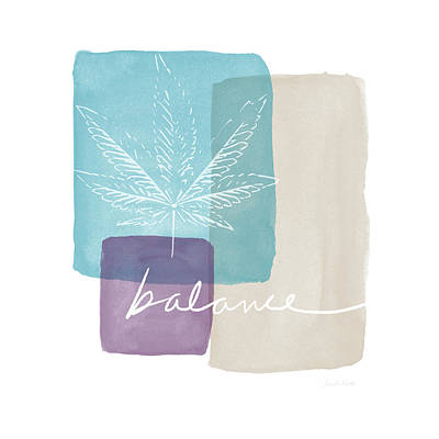 Cannabis Leaf Watercolor 3- Art By Linda Woods Art Print by Linda Woods