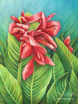 Cannas Bloom Original by Wendy Koehrsen