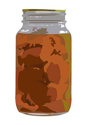 Canned Peaches Art Print by Robert Bissett