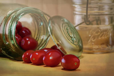 Jars Photograph - Canned Tomatoes - Kitchen Art by Tom Mc Nemar
