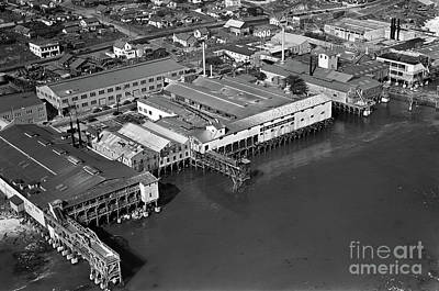 Photograph - Cannery Row By Ted Mckay 1939 by California Views Mr Pat Hathaway Archives