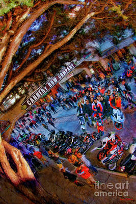 Photograph - Cannery Row Bike Night by Blake Richards
