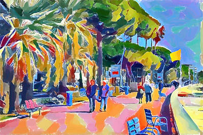 Digital Art - Cannes Beach Walk 2 by Yury Malkov