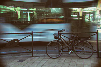 Cannes Bike Art Print