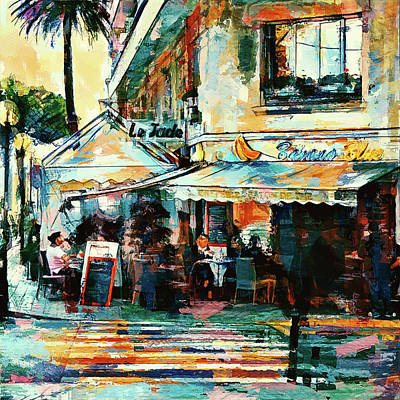 Digital Art - Cannes Blue Banana Bar 3 by Yury Malkov