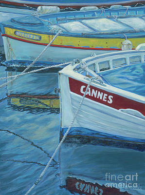Cannes Boats Art Print by Danielle Perry