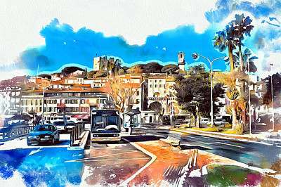 Digital Art - Cannes Bus Station 2 by Yury Malkov