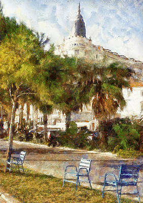 Old Town Digital Art - Cannes Carlton Hotel by Yury Malkov