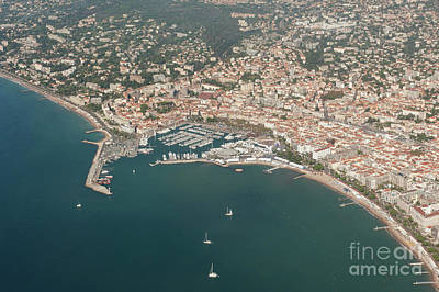 Cannes France Aerial View Of Le Vieux Port. Art Print