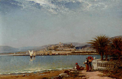 Cannes Painting - Cannes In The Riviera by MotionAge Designs