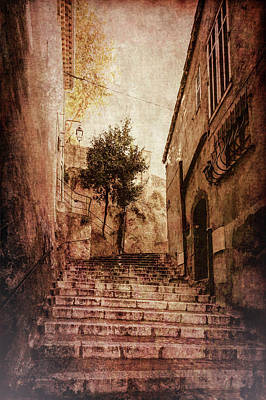 Cannes Stairs Art Print
